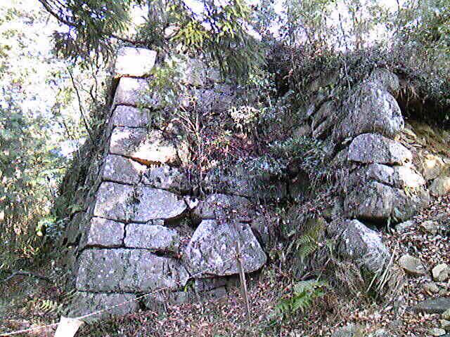 笠間城天守台を見てます